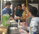 7th and 8th grade students visit the Hoboken Homeless Shelter